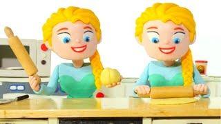 Frozen Elsa Best Chef Ever ❤ Spiderman, Hulk & Frozen Elsa Play Doh Cartoons For Kids