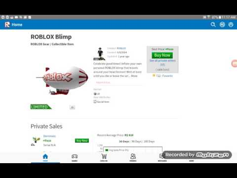 Roblox getting the blimp