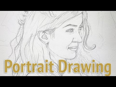 Portrait drawing - learn composition and proportion in 18 minutes