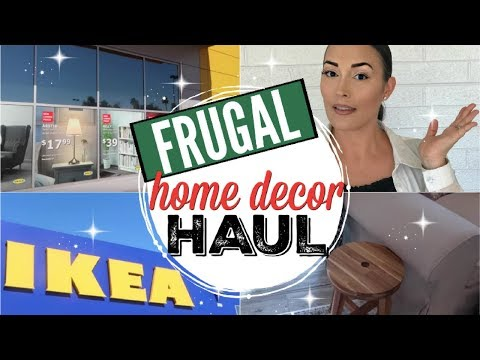 IKEA HAUL 2018 USA ● FRUGAL INTENTIONAL SHOP WITH ME ● HOME DECOR HAUL ● LIVING ROOM + KITCHEN ITEMS
