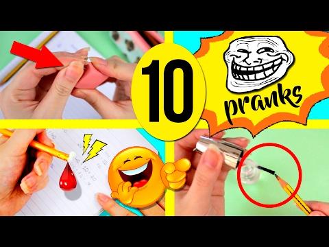 TOP 10 PRANKS for SCHOOL you MUST do! 📚 How to PRANK people 😂 Super FUN School PRANKS!