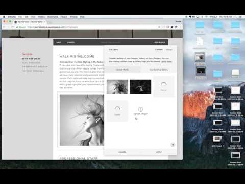 Adding Images and Image Gallery to Squarespace