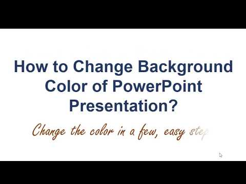 How to Change Background Color of Powerpoint Presentation | How to Change Color of Slide | Tutorial