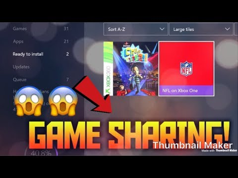 How To Gameshare On The Xbox One 2018!! (Get Free Games!!)