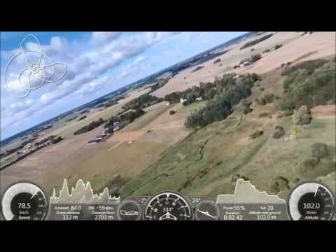 Parrot Disco with GPS overlay, max speed and altitude test