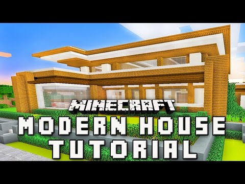 Minecraft Tutorial:  How To Build A Modern House   (Part 2  Structure Design)