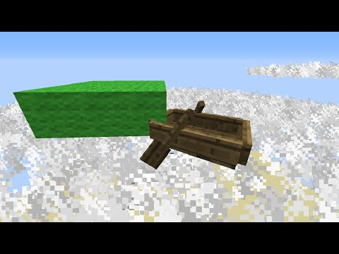 How to Make Boats Fly in Vanilla Minecraft!