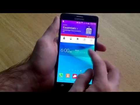 Samsung Galaxy Note 4 - How to set an alarm, turn alarm on/off