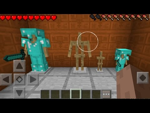 MINECRAFT PE 1.1.5 ARMOR STANDS ADDON / MOD REVIEW - HOW TO GET ARMOR STANDS IN MCPE 1.2