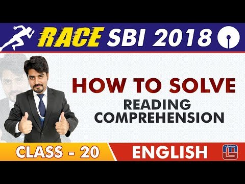 SBI Clerk Prelims 2018 | How To Solve Reading Comprehension | English | Live at 9 am | Class-20