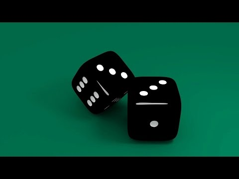 Blender Beginners Tutorial: How To Create A 3d Black Plastic Dice With White Countersunk Dots.