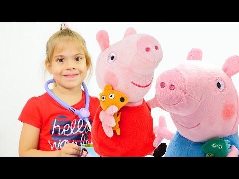 Девочка играет со свинкой пеппой видео