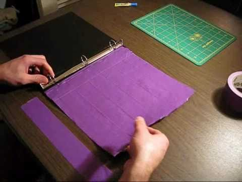 How to make a Duct tape binder