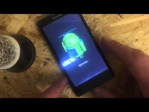 Update Lenovo S820 hard reset  чистка и сброс графического ключа