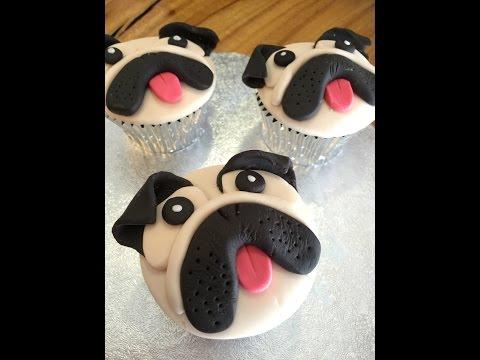 Pug cupcakes tutorial