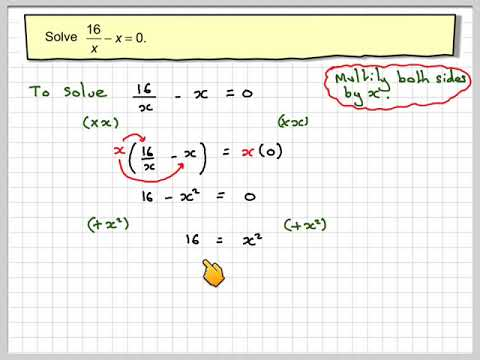 Solving equations with x in the denominator 02