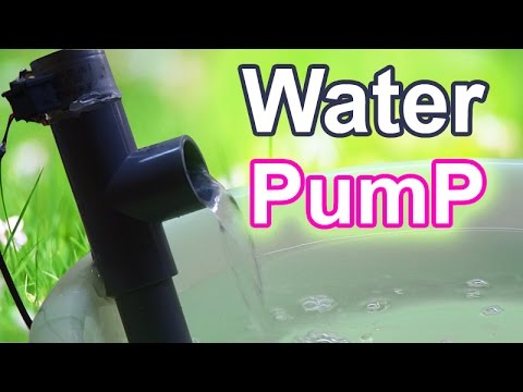 How to make Water Pump at home -  Straight Shaft Pump