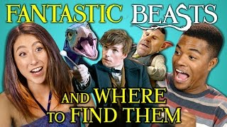 College Kids React to Fantastic Beasts Trailer (Harry Potter Wizarding World)