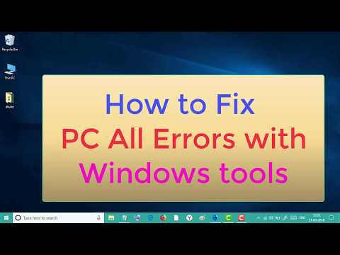 How to Fix PC All Errors with Windows tools