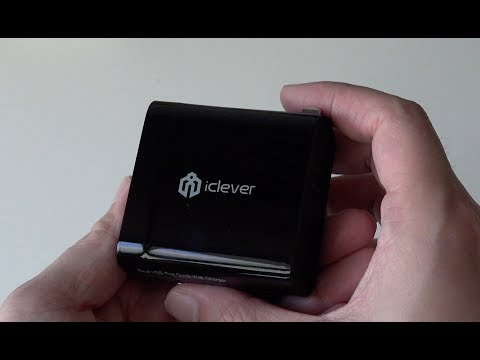 iClever IC-WQ22B 30W Dual USB Wall Charger Unboxing