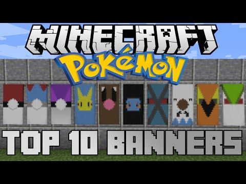 Minecraft top 10 Pokemon banners! With tutorial!