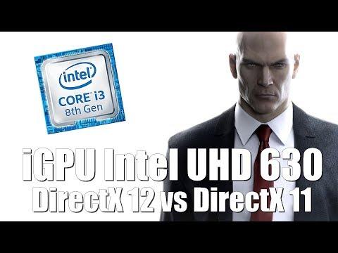 Hitman - Intel iGPU UHD 630 DirectX 12 vs DirectX 11 test