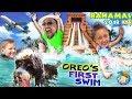 Puppy's 1St Time Swimming + Bahamas Atlantis Leap Of Faith Shark Waterslide (Funnel Vision Vlog) mp3