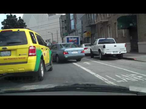 Downtown Street Level with Traffic, San Francisco, California USA.MP4