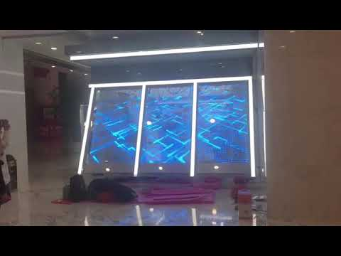 Glass Sticker Transparent LED Advertising Sign for JD Self-service Store