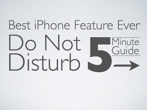 [How to] Use Do Not Disturb on the iPhone (Avoid Calls)
