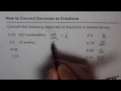 02 Convert Decimals to Fractions in Lowest Terms