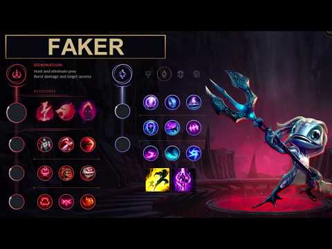 SKT Faker Build Fizz - New Runes Season 8 solo vs Tayliah (League of Legends Guide)
