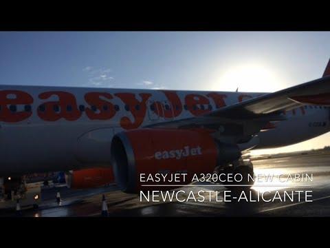 TRIP REPORT   Easyjet NEW CABIN   A320CEO   Newcastle-Alicante   Economy   HD