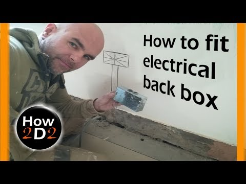 how to install electrical back box How to fit socket outlet metal box