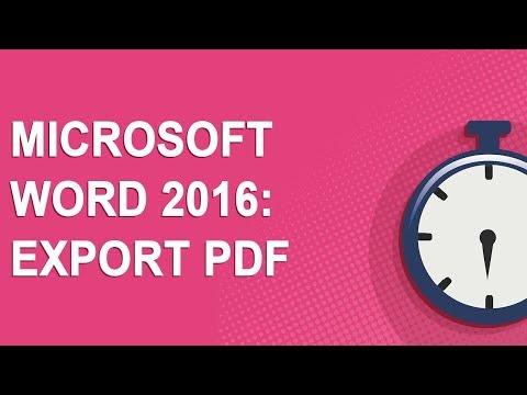 Microsoft Word 2016: Export PDF (No Ads!)