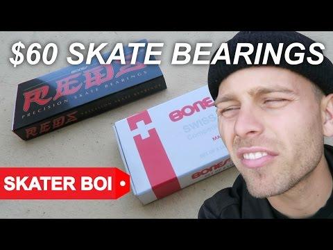 $15 SKATEBOARD BEARINGS vs $60 SKATEBOARD BEARINGS