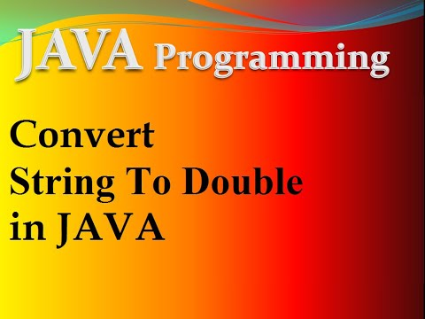 How to convert string to double in java : Java Program