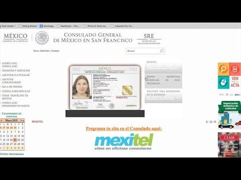 Cómo hacer una cita en el Consulado Mexicano por Internet [video]