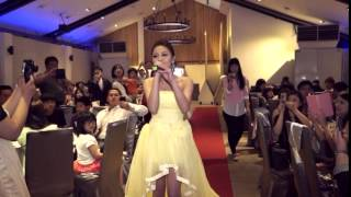 婚禮新娘唱歌進場,人海中遇見你(婚攝版)