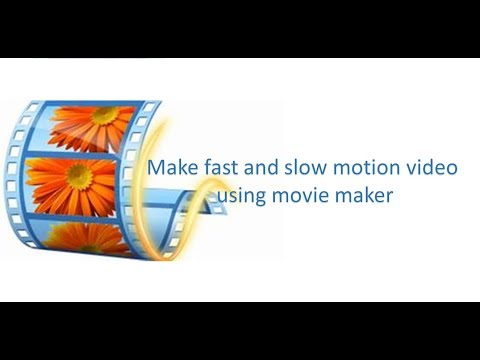 Create fast and slow motion video using Movie Maker..|technical baba