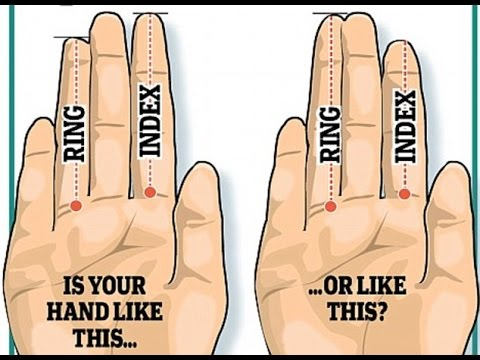 Men with a long ring finger have bigger testicles,Does a man's right hand reveal his FERTILITY?
