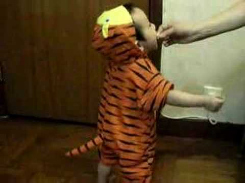 Jaion in tiger costume