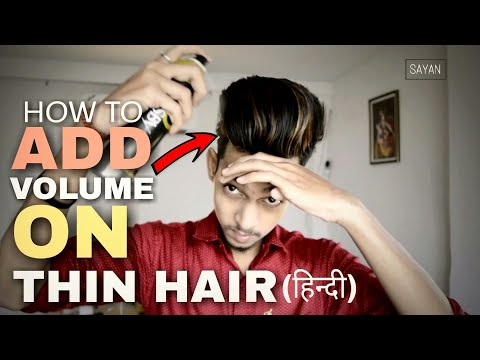 How To Add Volume On Thin Hair | HINDI | Indian Mens Undercut Hair Style