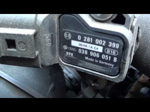VW Jetta MAP Sensor Location Video