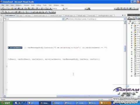 Global Email Client Code Explanation   Sending Mail   Part 1 c
