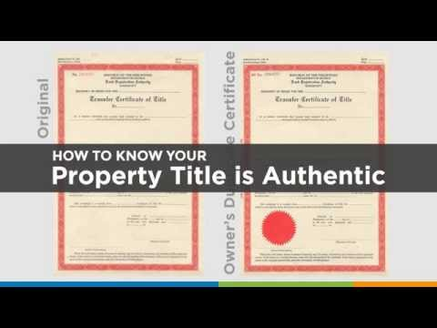 How to Know Your Property Title is Authentic