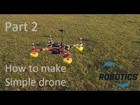 How to make simple drone (quadcopter) at home / DIY/ assembling a drone by Anand robotics part 2