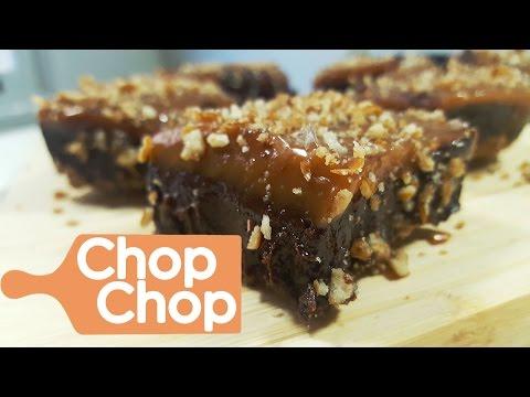 Salted Caramel Pretzel Brownies | Chop Chop