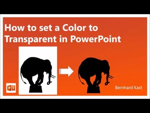 How to set a Color to Transparent in PowerPoint