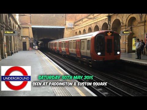 LONDON UNDERGROUND PADDINGTON & EUSTON SQUARE, SATURDAY 30TH MAY 2015
